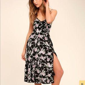 Lulus Esperanza floral print midi dress